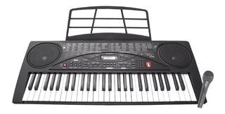 Teclado Musical Con Micrófon 54 Teclas Display Lcd Mtc-5480