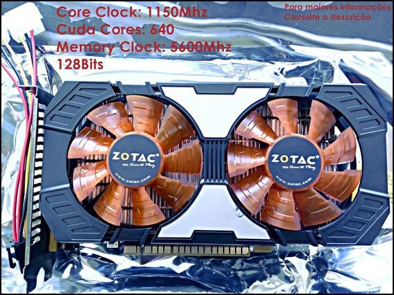 Placa De Vídeo Gtx 750ti 2gb Nvidia Zotac-frete Grátis