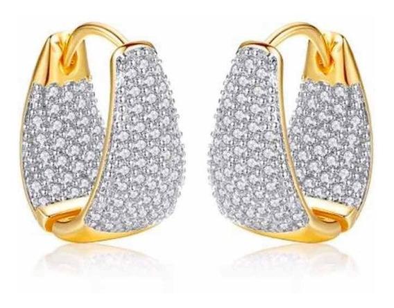 Aros Argollas Swarovski Elements Cristal Elegantes Pave