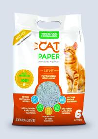 Granulado Higienico Cat Paper 1,5kg 1 Fardo Com 6 Unid