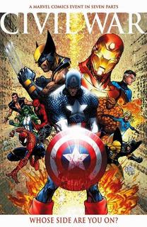 Comics Marvel Saga Completa Civil War Español Digital+extras