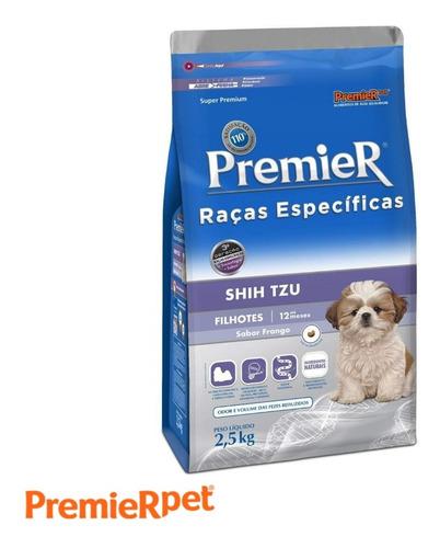 Ração Premier Premium Para Shih Tzu Filhote 2,5 Kg Frango