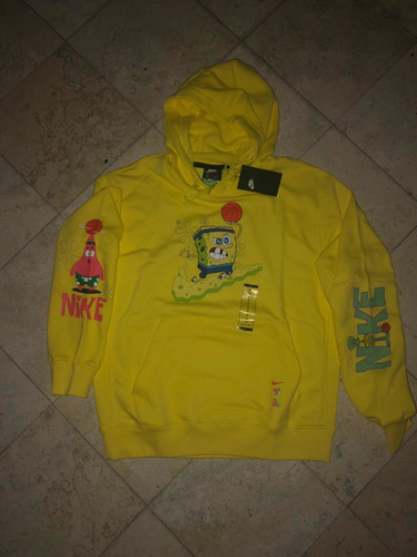 hilo chisme paz  Sudadera/hoodie Nike X Kyrie X Bob Esponja Amarilla | Mercado Libre