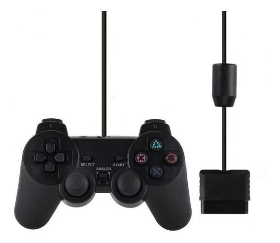 Controle Joystick Playstation 1 2 Ps2 Ps1 Analógico Com Fio