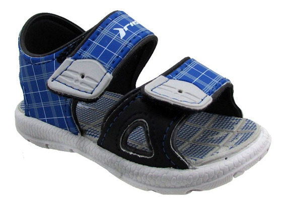 Sandalia Mini Sandal Rider 2 Baby Azul Gris