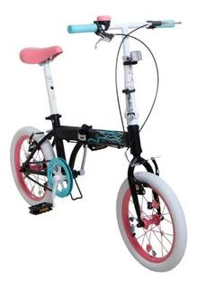 Bicicleta Infantil Plegable Bia Rodado 16 Disney 7152