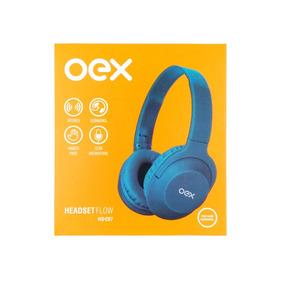 Fone De Ouvido Original Com Microfone Hs207 Stereo Azul