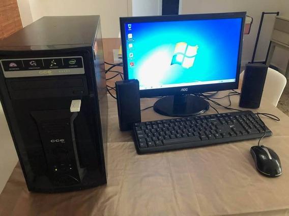Computador Dual Core Cce + Monitor Aoc 18.5 + Periféricos