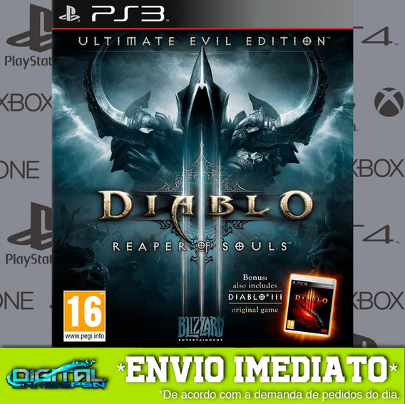 Diablo Iii Reaper Of Souls Ps3 Game Digital Envio 15min.