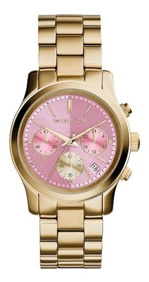 Relógio Michael Kors Mk6161 Gold Original Completo C/ Caixa