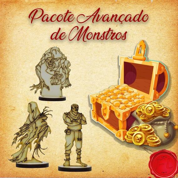 Pacote Avançado De Monstros - Miniaturas Rpg