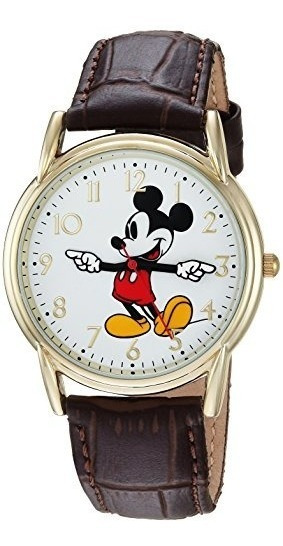 Disney Reloj De Cuarzo Analogico Mickey Mouse Para Hombre Co
