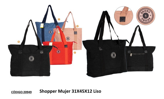 Cartera Shopper Skora Tela De Avión Lisa