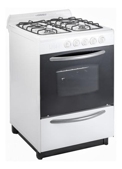 Cocina Domec CBUPV 4 hornallas multigas blanca puerta visor