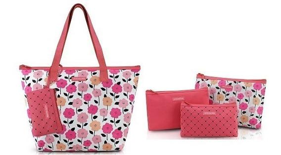 Kit Com Bolsa+3necessaire -promoção Dia Das Mães