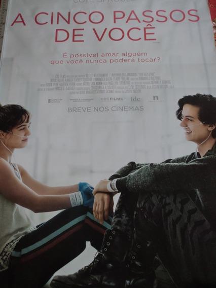 Poster:cartaz:a Cinco Passos De Você:cinema:94cm X 64cm