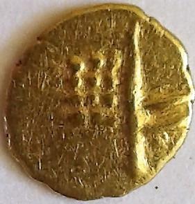Índia Fanão Ouro Zamorinds De Calicut 1300-1790 Certificado