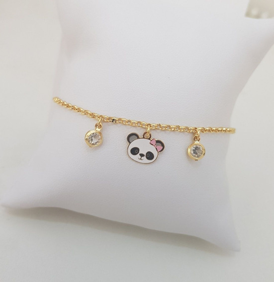 Pulseira Infantil De Panda