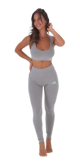 Conjunto Deportivo Mujer Yoga Calza Larga + Top Deportivo