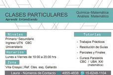 Clases Particulares Matematica Y Quimica