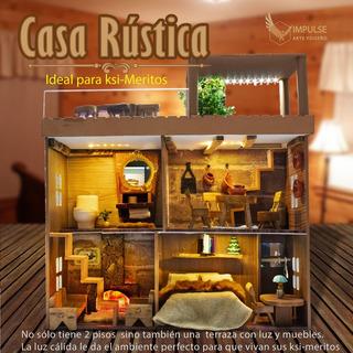 Casita De Muñecas, Cabañita Rustica De Lujo