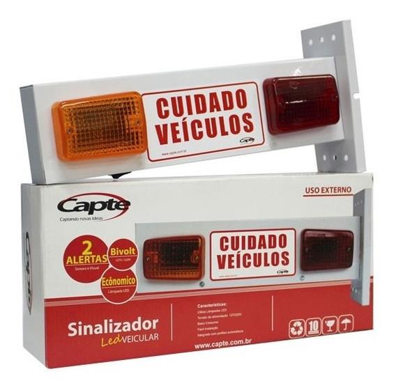 Sinalizador De Garagem Visual E Sonoro Veicular Led