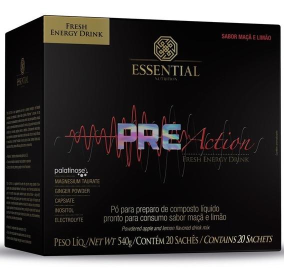 Pre Action 20 Sachês 27g - Essential Nutrition - Com Nf