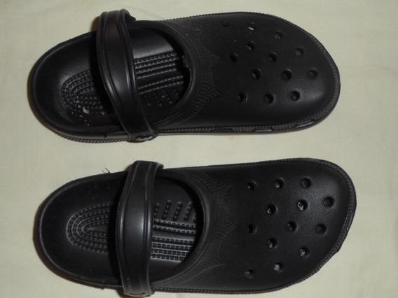 Zapatos Crocs Unisex Negros Talle 39-40