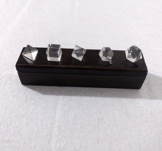 Kit Radionico Com 5 Sólidos De Platão - Vários Cristais