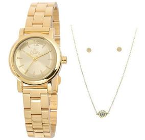 Relógio Feminino Allora Kit Al2035kq/k4d, C/ Garantia E Nf