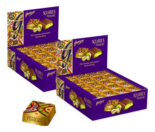 Imagen 1 de 1 de Pack 2 Cajas Bombones Chocolate Goplana 1 Kg Pistacho