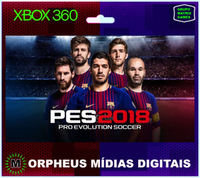 Pes 18 Xbox 360 Original - Mídia Digital