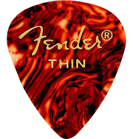 15 Palhetas Fender Corpo Mais Amplos E Ponta Arredondada Top