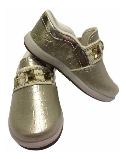 Tenis Infantil Feminino Menina Ouro Dourado Kidy Colors 0932