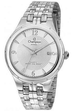 Relógio Champion Masculino Ref: Ca21384q Social Prateado