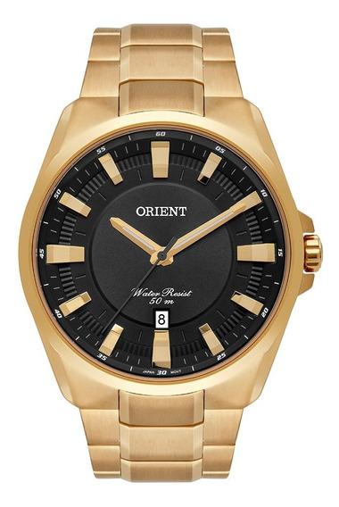 Relógio Orient Masculino Dourado Mgss1174 P1kx