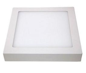 Kit 12 Plafon 25 W Quadrado Luminária Sobrepor 25w