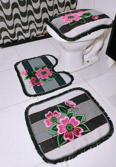 10 Conjunto De Tapete Para Banheiro 3 Pçs Decoração Atacado