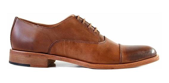 Zapato Vestir Hombre Briganti Cuero Negro Suela - Hcac00965