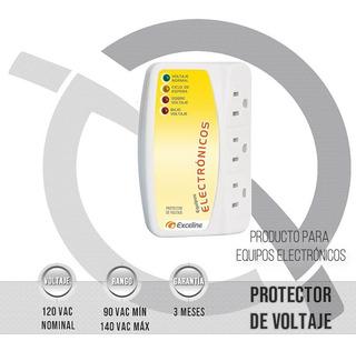 Protector De Voltaje Para Equipos Electron 120v Exceline