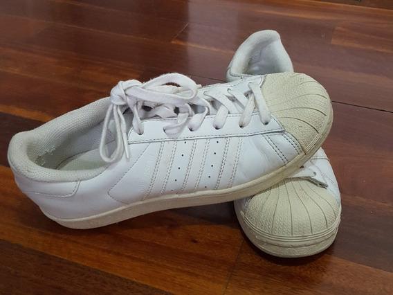 Zapatillas adidas Superstar Originales Blancas Talle 37