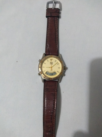 Relógio Original Dumont Digital E Analógico ( Revisado )
