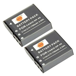 Dste 2x Np-40 Bateria De Iones De Litio De Repuesto Para Cas