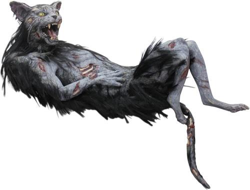 Imagen 1 de 1 de Decorativo De Látex Gato Zombie Zombie Cat Puppet Halloween