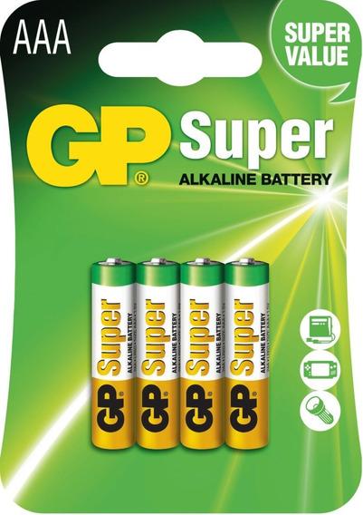 Pilha Gp Aaa 3a 1,5v Super Alcalina Cartela Com 4 Unidades