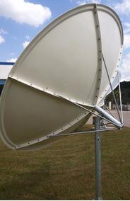 Antena Parabolica Fechada De Fibra De Vidro 2.4m