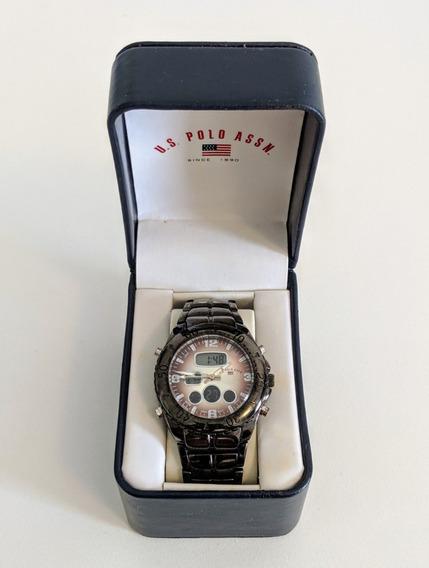 Relógio Us Polo Assn. Bc503-1658el Analógico/ Digital Inox