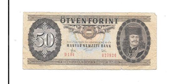 Liquido Billete De Hungría. 50 Florint 1983