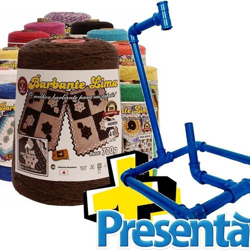 Imagem 1 de 9 de Kit 4 Barbantes Lima+ 1 Suporte De Barbantes Oferta Especial