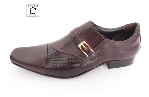 Sapato Masculino Social Couro Legitimo Gofer Marrom